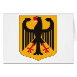 Tarjeta de felicitación del escudo de armas de Ale