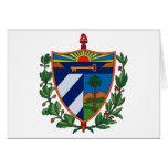 Tarjeta de felicitación del escudo de armas de Cub
