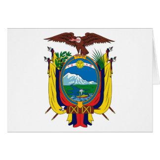 Tarjeta de felicitación del escudo de armas de Ecu