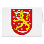 Tarjeta de felicitación del escudo de armas de Fin