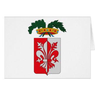 Tarjeta de felicitación del escudo de armas de Flo