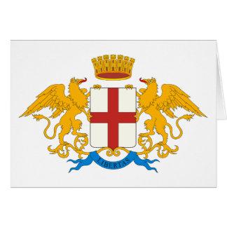 Tarjeta de felicitación del escudo de armas de Gén