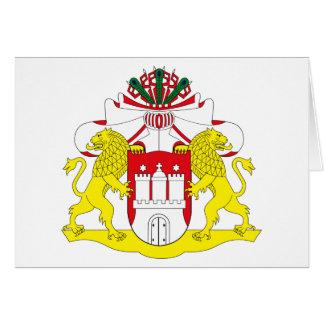 Tarjeta de felicitación del escudo de armas de Ham