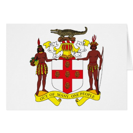 Tarjeta de felicitación del escudo de armas de Jam