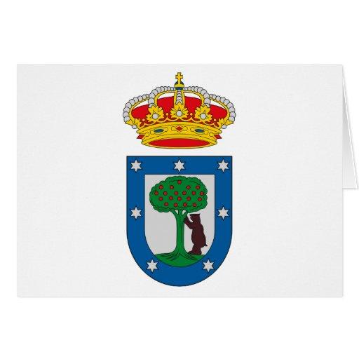 Tarjeta de felicitación del escudo de armas de Mad