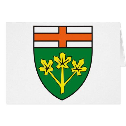 Tarjeta de felicitación del escudo de armas de Ont