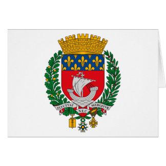 Tarjeta de felicitación del escudo de armas de Par