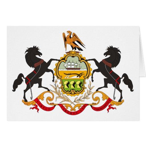 Tarjeta de felicitación del escudo de armas de Pen