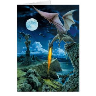 Tarjeta de felicitación del escupitajo del dragón