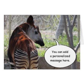 Tarjeta de felicitación del extremo del Okapi