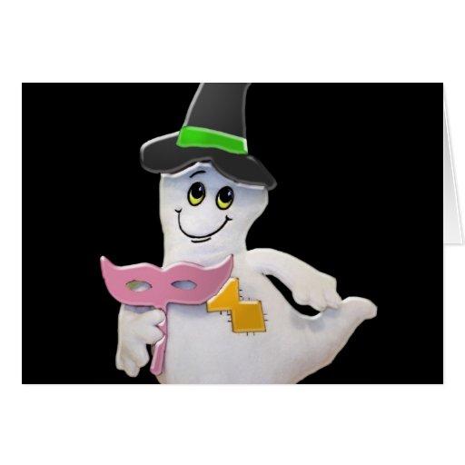 Tarjeta de felicitación del fantasma de Halloween