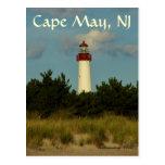 Tarjeta de felicitación del faro de Cape May/posta Postales