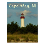 Tarjeta de felicitación del faro de Cape May/posta Tarjeta Postal
