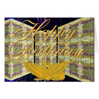 Tarjeta de felicitación del feliz cumpleaños del