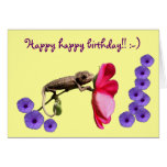 Tarjeta de felicitación del feliz cumpleaños por G