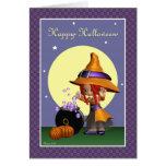 Tarjeta de felicitación del feliz Halloween de la