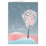 Tarjeta de felicitación del flor de Sakura