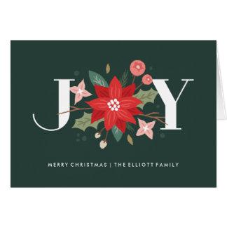 Tarjeta de felicitación del Flourish de la alegría