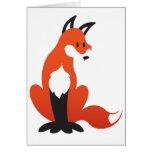 Tarjeta de felicitación del Fox