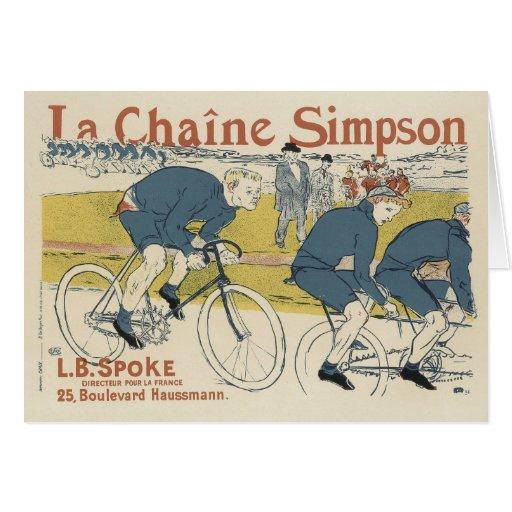 Tarjeta de felicitación del franqueo del vintage -