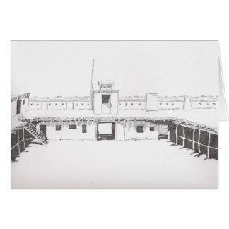 Tarjeta de felicitación del fuerte de la encorvadu