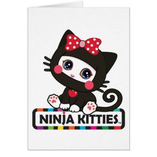 Tarjeta de felicitación del gatito de Ninja