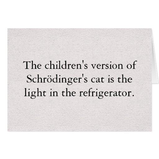 Tarjeta de felicitación del gato de Schrödinger