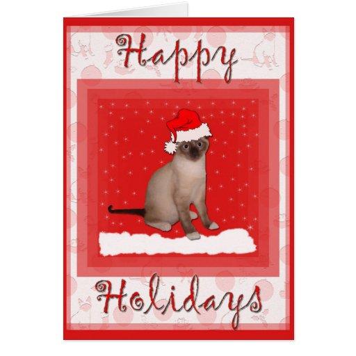 Tarjeta de felicitación del gato del navidad