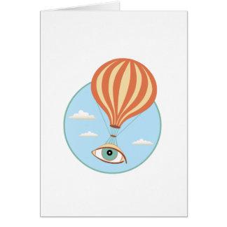 Tarjeta de felicitación del globo del aire