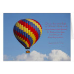 Tarjeta de felicitación del globo del aire calient