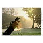 Tarjeta de felicitación del golf