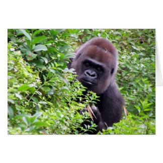 Tarjeta de felicitación del gorila