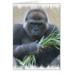 Tarjeta de felicitación del gorila del Silverback