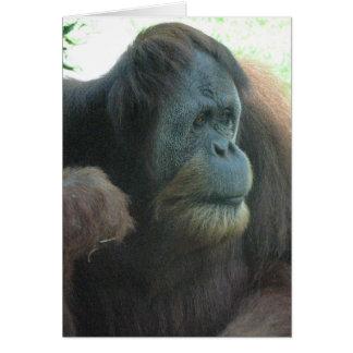 Tarjeta de felicitación del gran mono