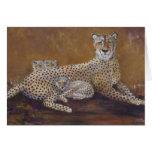 Tarjeta de felicitación del guepardo