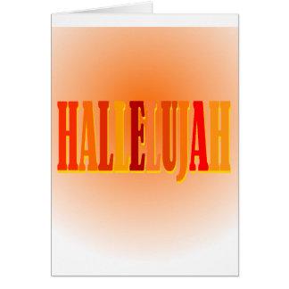Tarjeta de felicitación del Hallelujah
