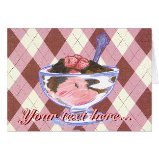 Tarjeta de felicitación del helado de la frambuesa