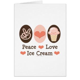 Tarjeta de felicitación del helado del amor de la
