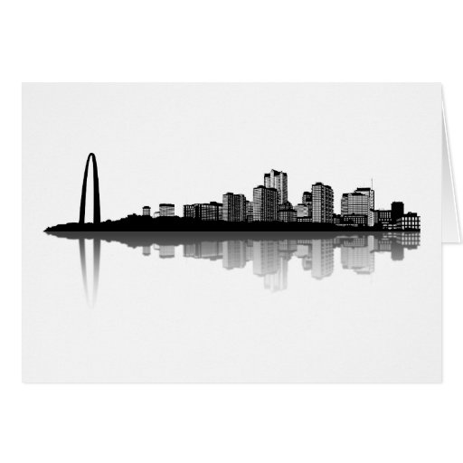 Tarjeta de felicitación del horizonte de St. Louis