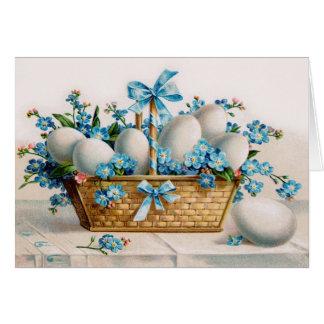 Tarjeta de felicitación del huevo de Pascua del vi