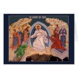 Tarjeta de felicitación del icono de Pascha (Pascu