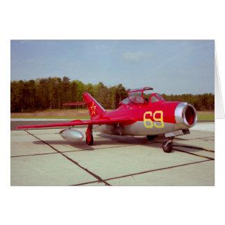 Tarjeta de felicitación del instructor Mig-17