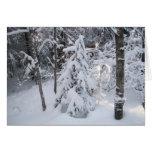 Tarjeta de felicitación del invierno