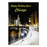 Tarjeta de felicitación del invierno de Chicago