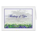 Tarjeta de felicitación del iris y de la niebla