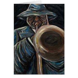 Tarjeta de felicitación del jazz del estilo libre