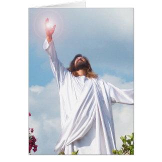 Tarjeta de felicitación del Jesucristo de dios de