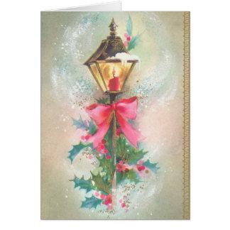 Tarjeta de felicitación del Lamppost del navidad d
