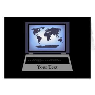 Tarjeta de felicitación del mapa del mundo del ord