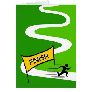 Tarjeta de felicitación del maratón de la enhorabu